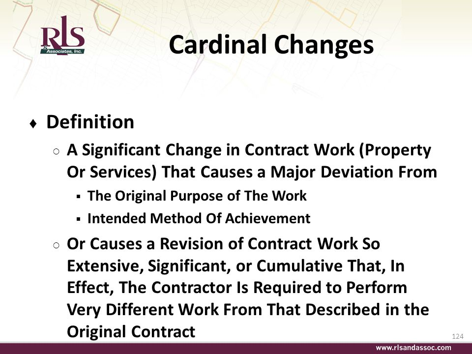 Cardinal Changes Definition