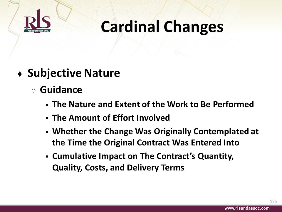 Cardinal Changes Subjective Nature Guidance