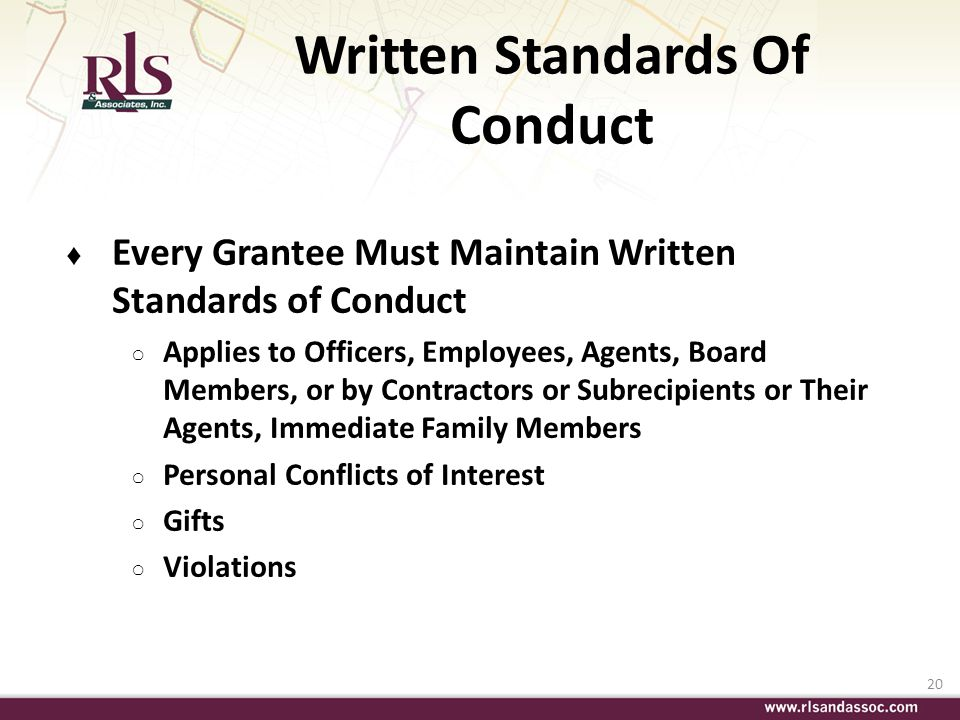 Written Standards Of Conduct