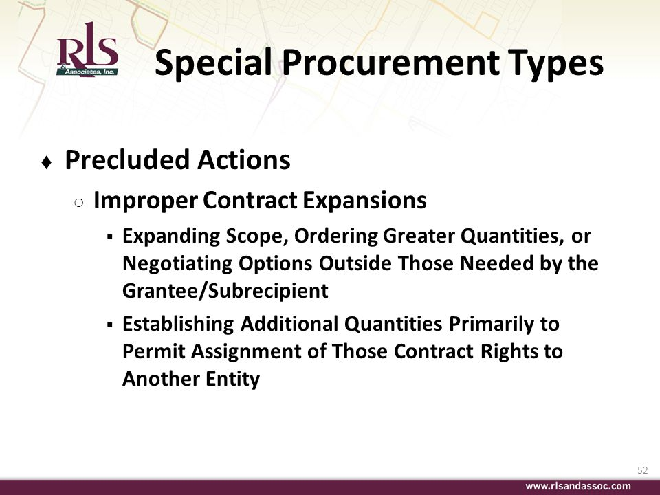 Special Procurement Types