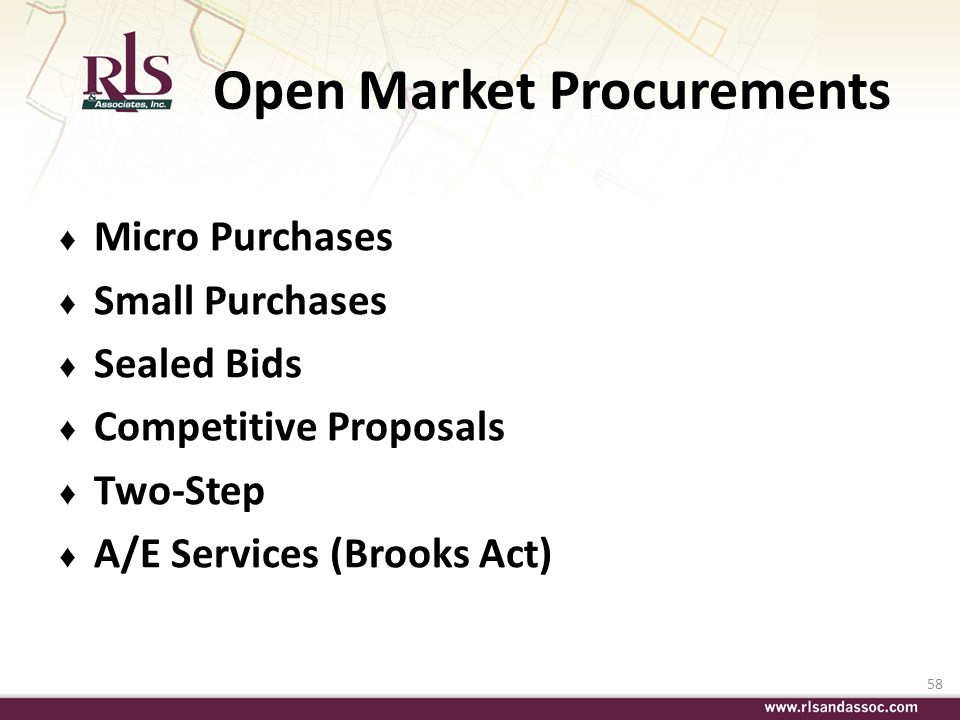 Open Market Procurements