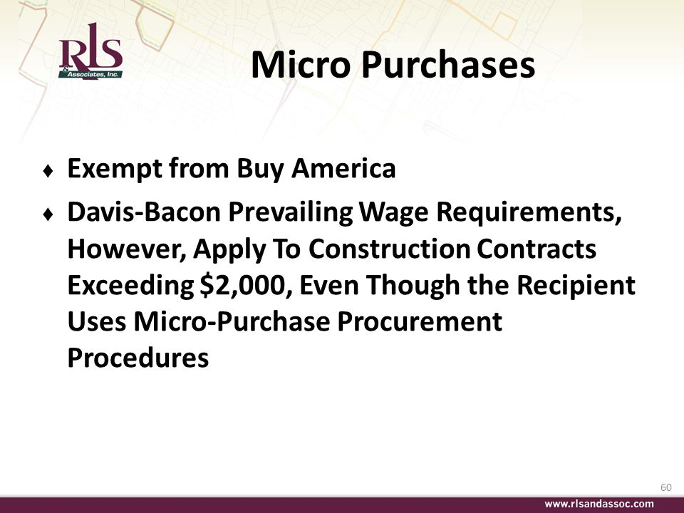 Micro Purchases Exempt from Buy America