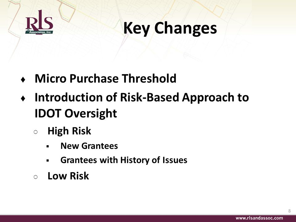 Key Changes Micro Purchase Threshold