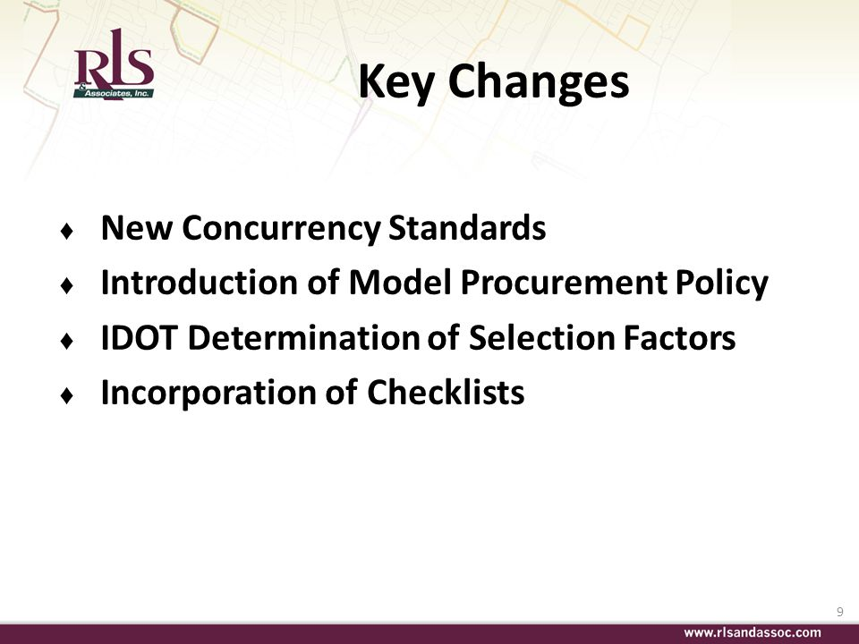 Key Changes New Concurrency Standards