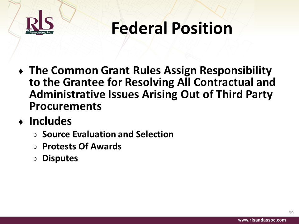 Federal Position
