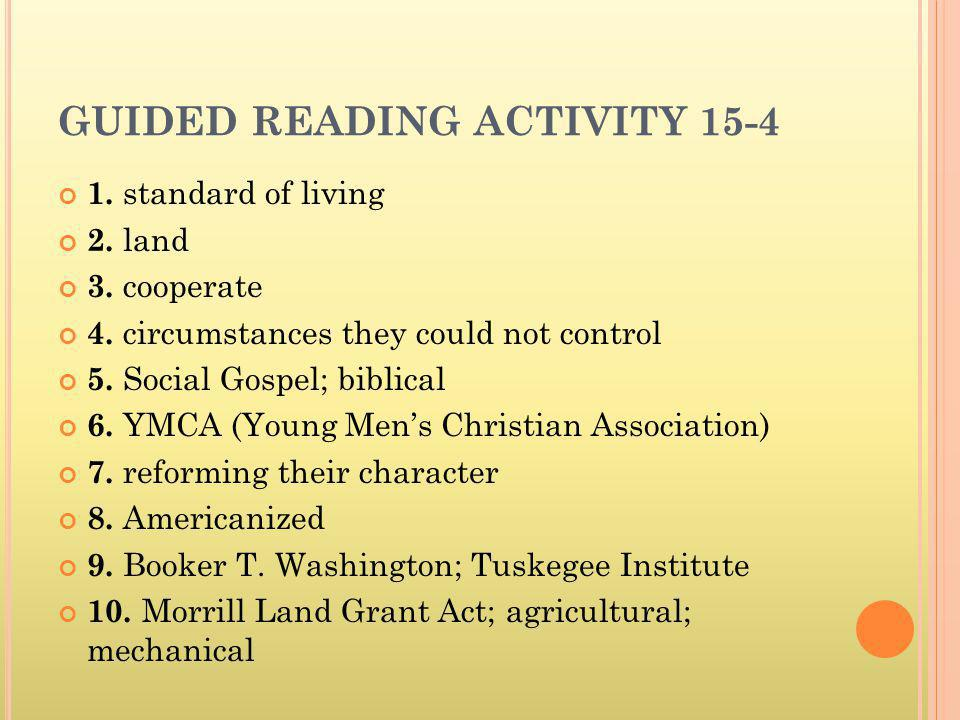 GUIDED READING ACTIVITY 15-4