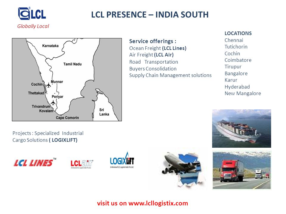 LCL PRESENCE – INDIA SOUTH