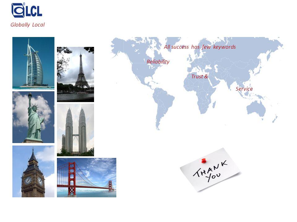Globally Local All success has few keywords Reliability Trust & Service