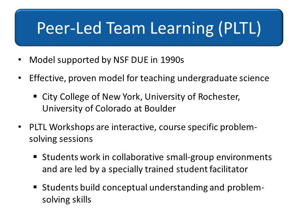 Peer-Led Team Learning (PLTL)