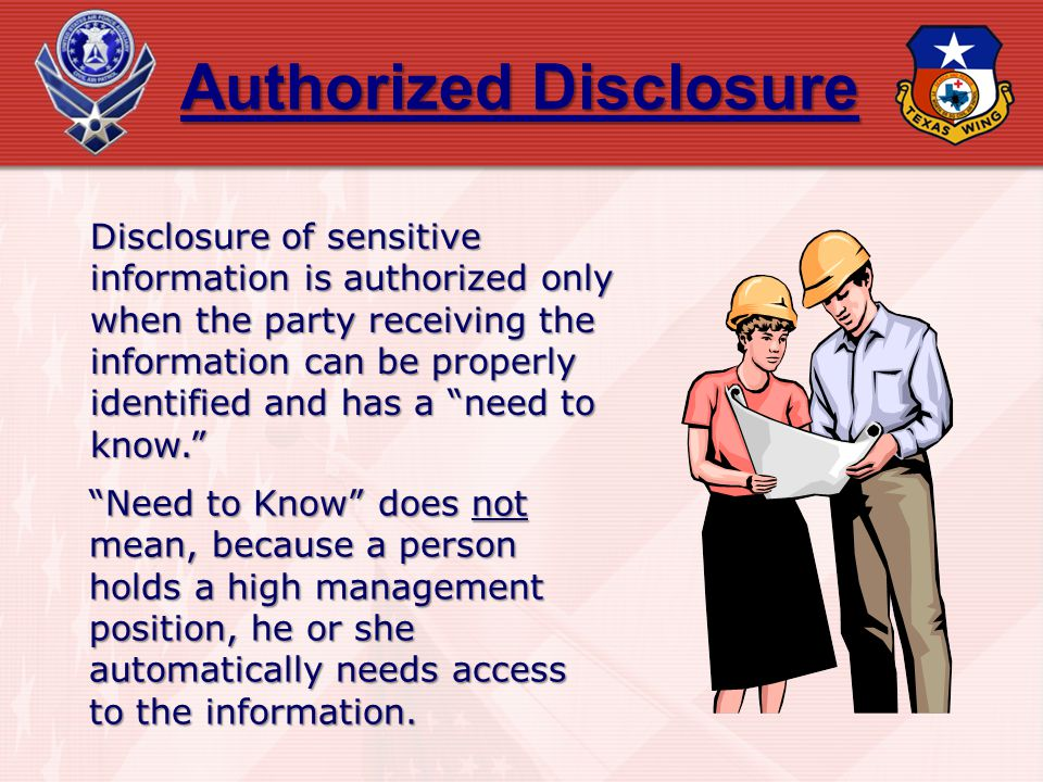 Authorized Disclosure