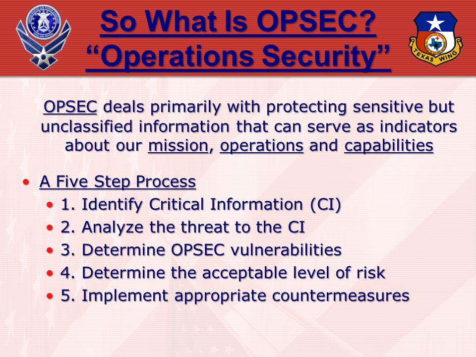 So What Is OPSEC Operations Security