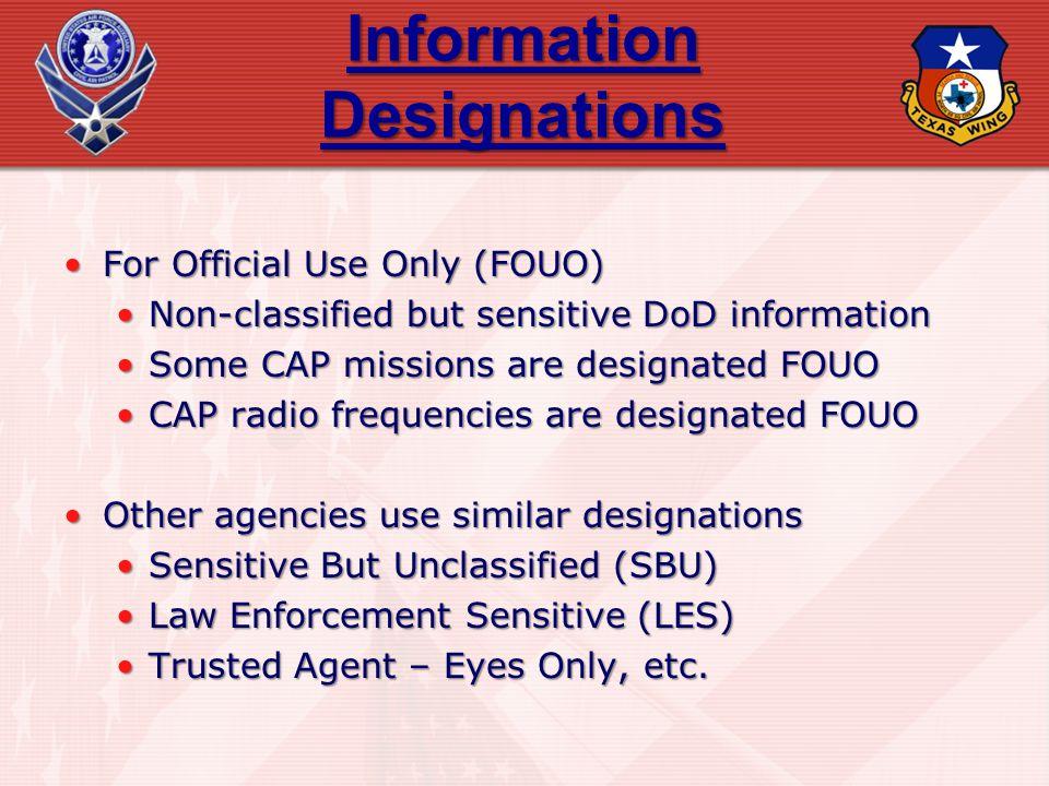 Information Designations