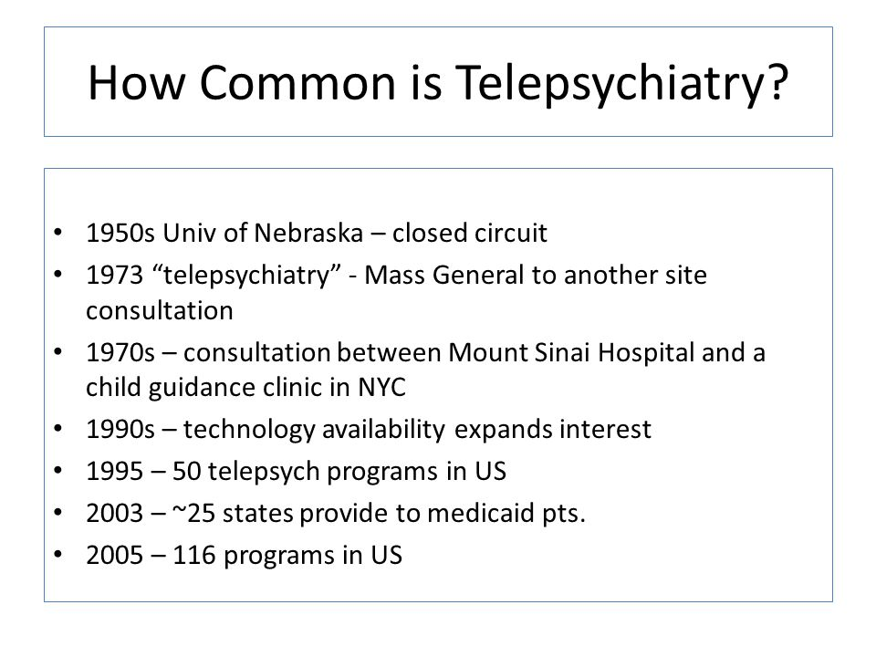 How Common is Telepsychiatry