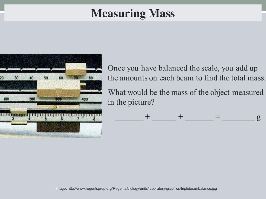 Measuring Mass Image: