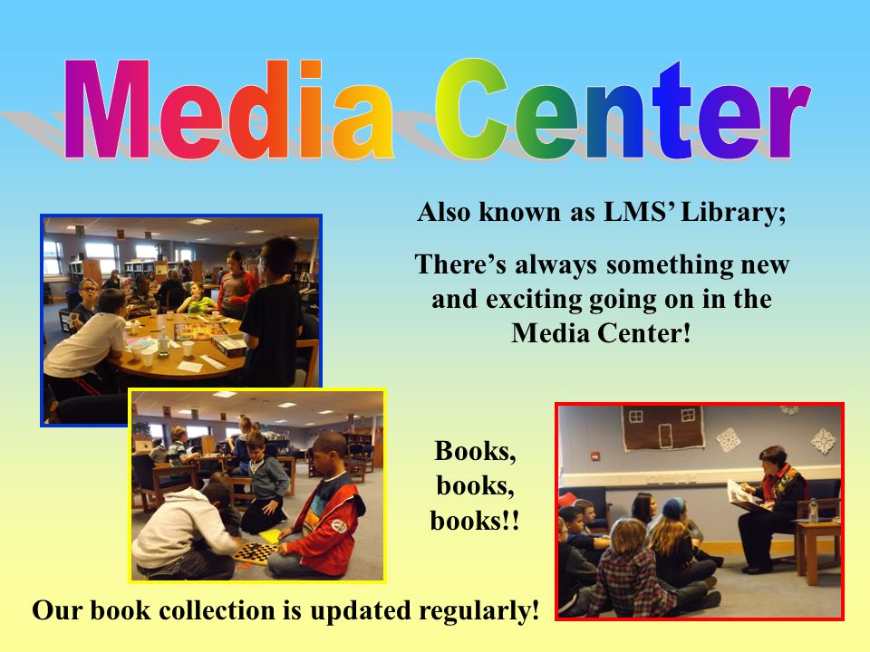 Also known as LMS' Library; Our book collection is updated regularly!