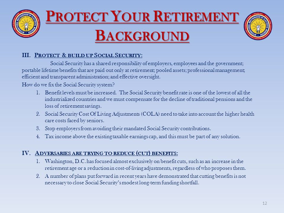 Protect Your Retirement Background