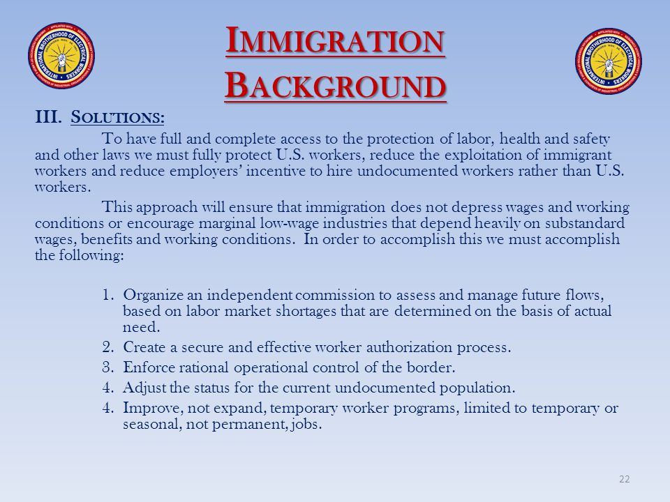 Immigration Background