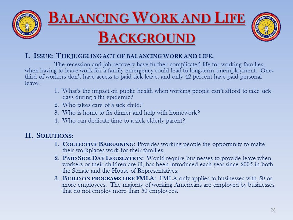 Balancing Work and Life Background