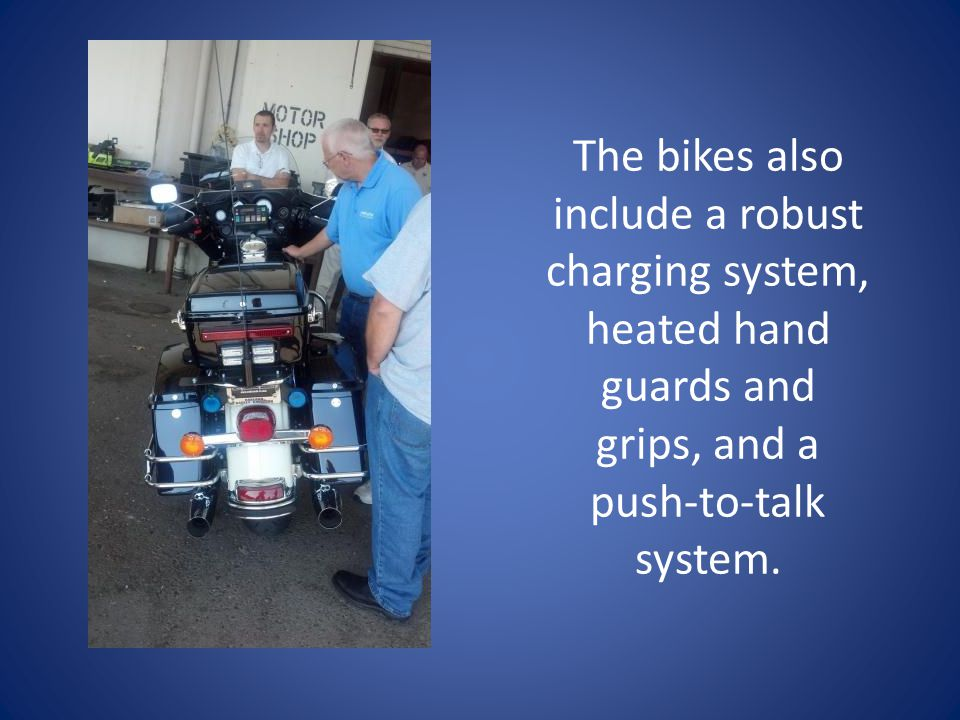 The bikes also include a robust charging system, heated hand guards and grips, and a push-to-talk system.