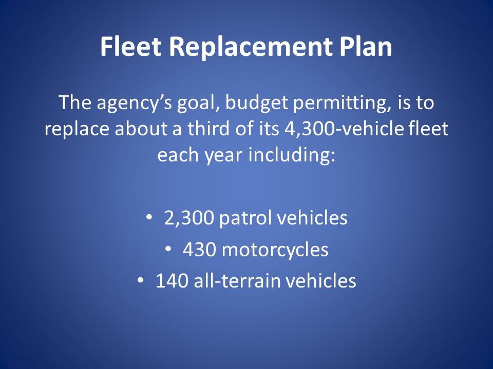 Fleet Replacement Plan