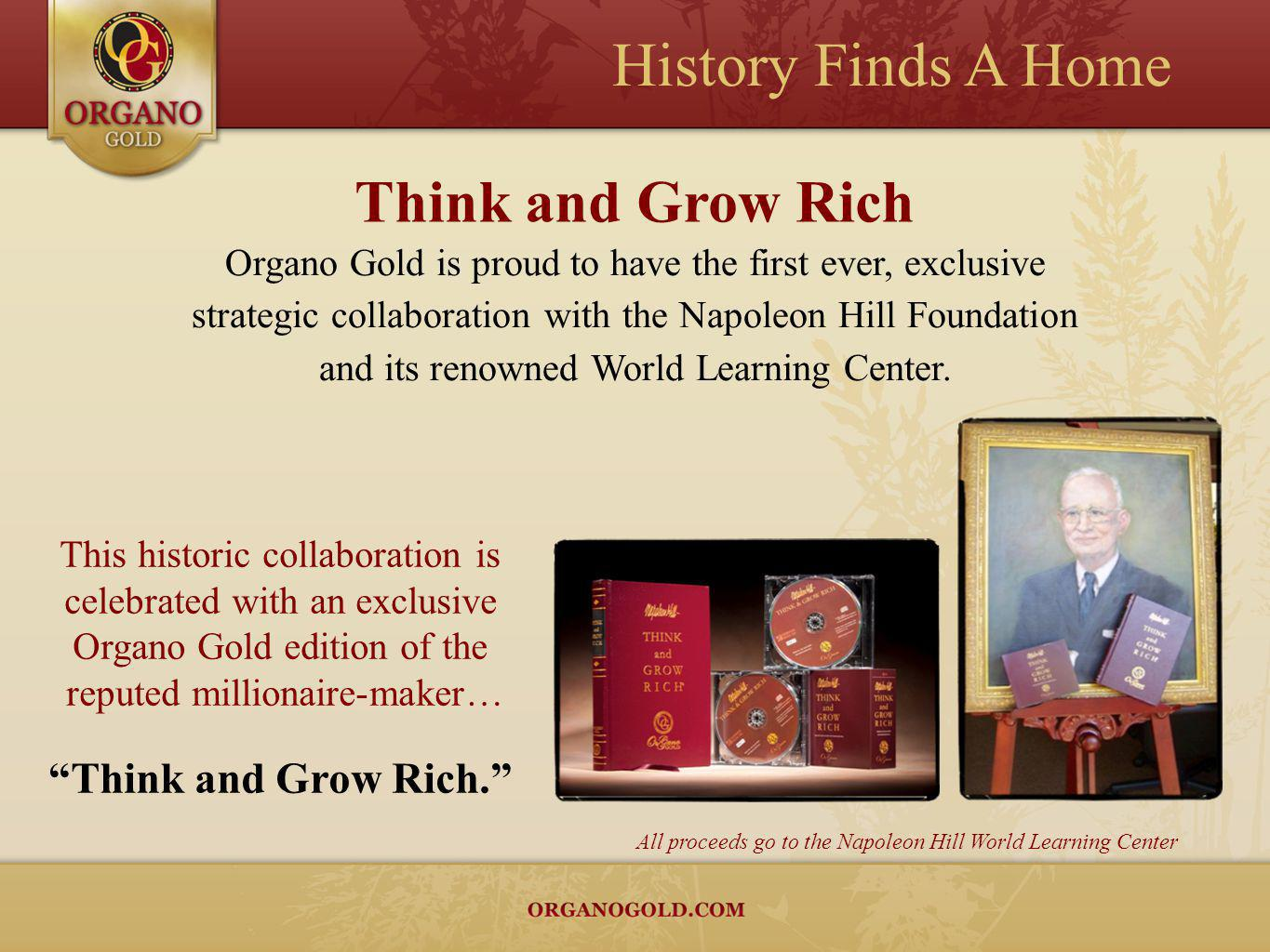 History Finds A Home Think and Grow Rich Think and Grow Rich.