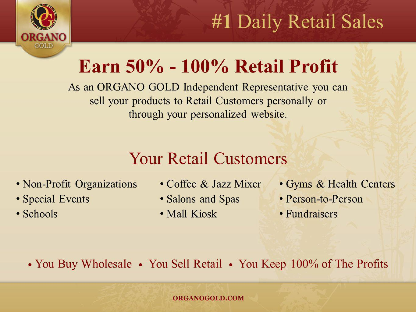 #1 Daily Retail Sales Earn 50% - 100% Retail Profit