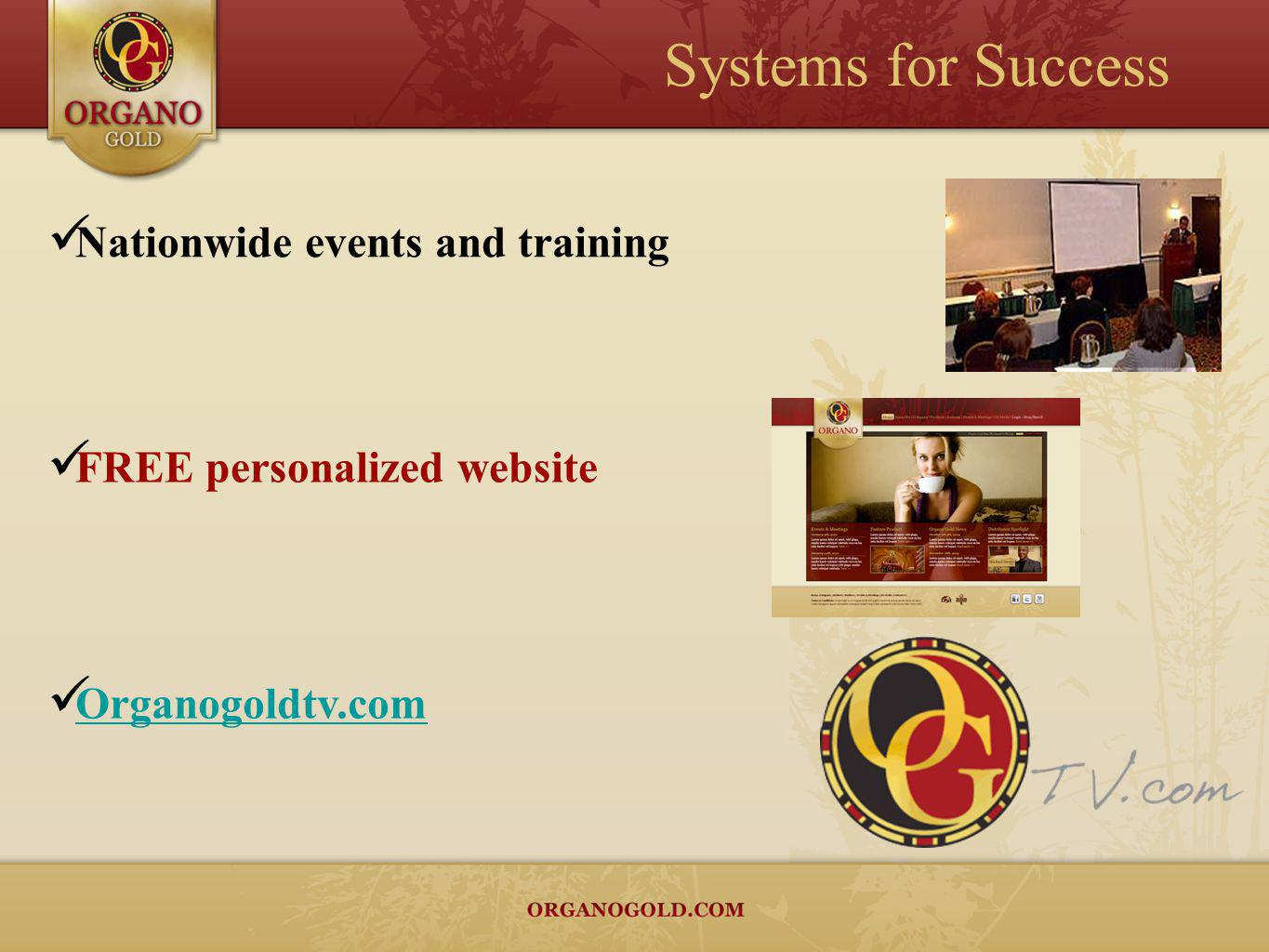 Systems for Success Nationwide events and training