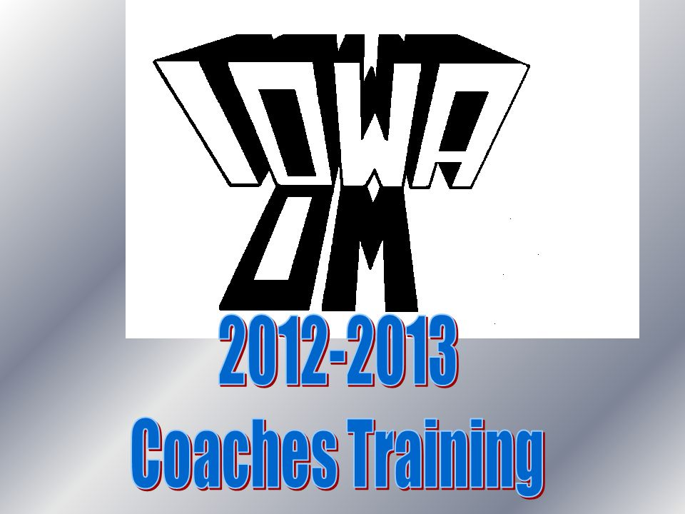 2012-2013 Coaches Training