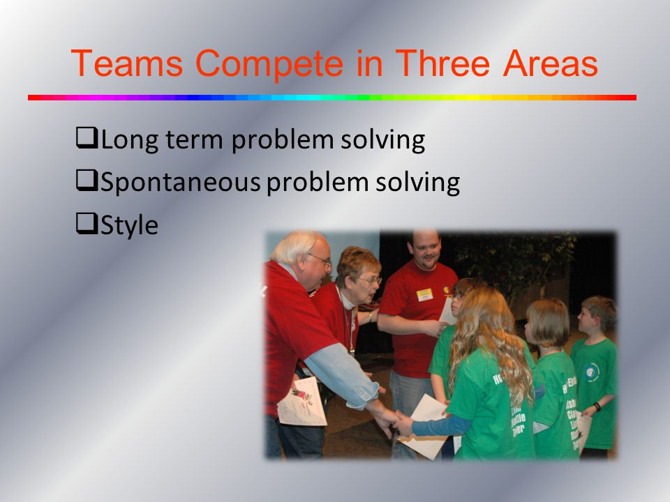 Teams Compete in Three Areas