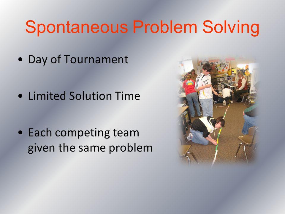 Spontaneous Problem Solving