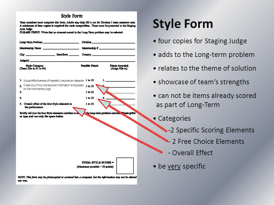 Style Form four copies for Staging Judge adds to the Long-term problem