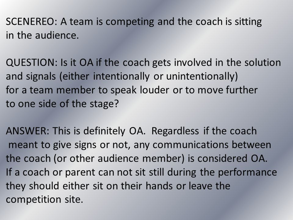 SCENEREO: A team is competing and the coach is sitting