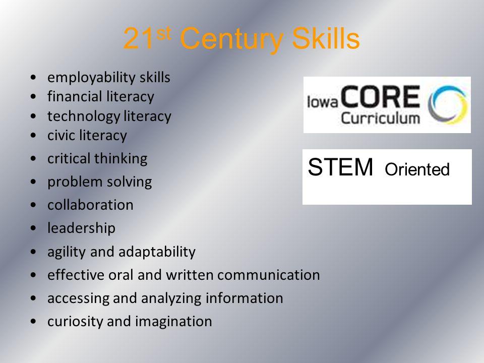 21st Century Skills STEM Oriented employability skills