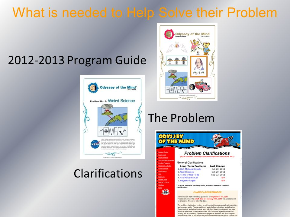 What is needed to Help Solve their Problem