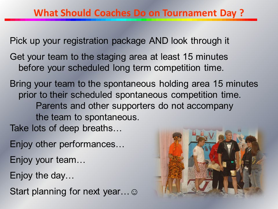 What Coaches Should Do on Tournament Day