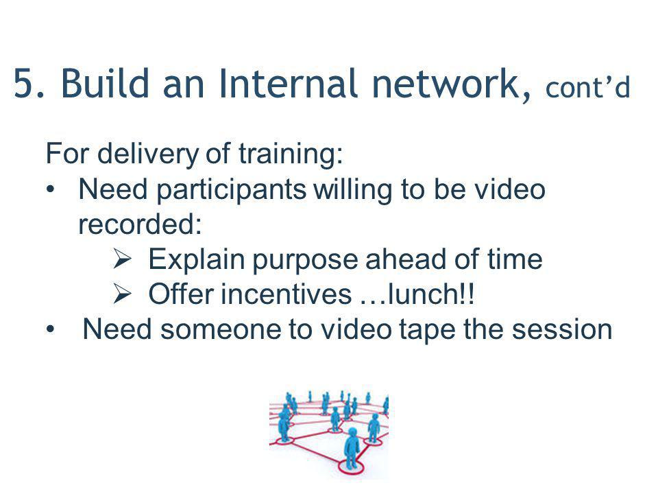 5. Build an Internal network, cont'd