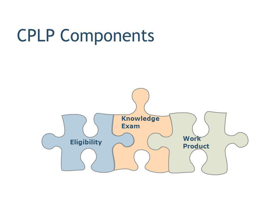 CPLP Components Knowledge Exam Work Product Eligibility