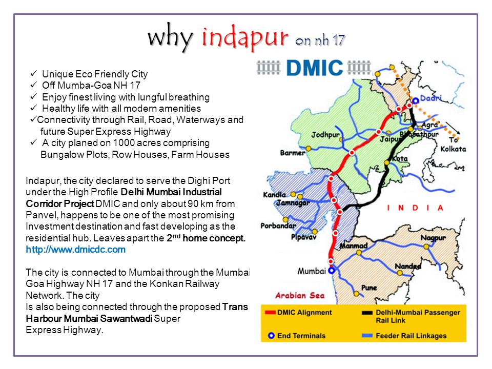 why indapur on nh 17  Unique Eco Friendly City  Off Mumba-Goa NH 17