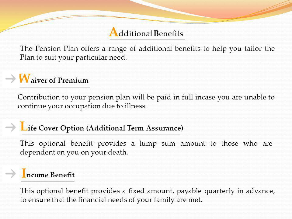 Life Cover Option (Additional Term Assurance)