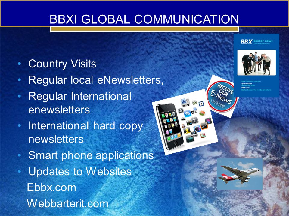 BBXI GLOBAL COMMUNICATION