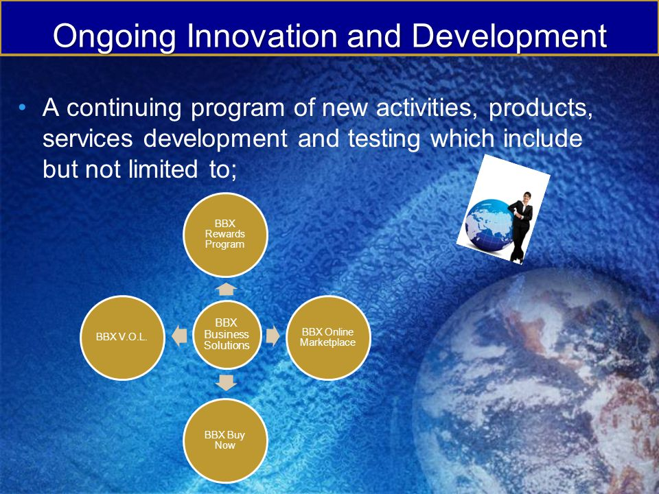 Ongoing Innovation and Development