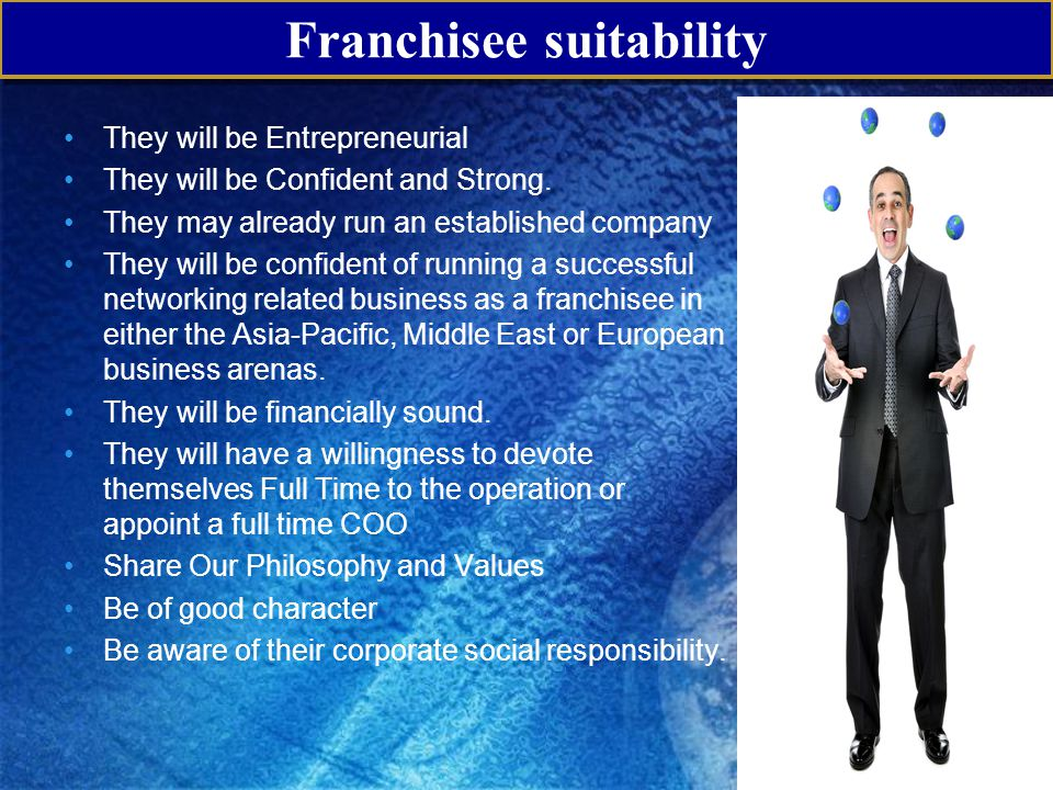 Franchisee suitability