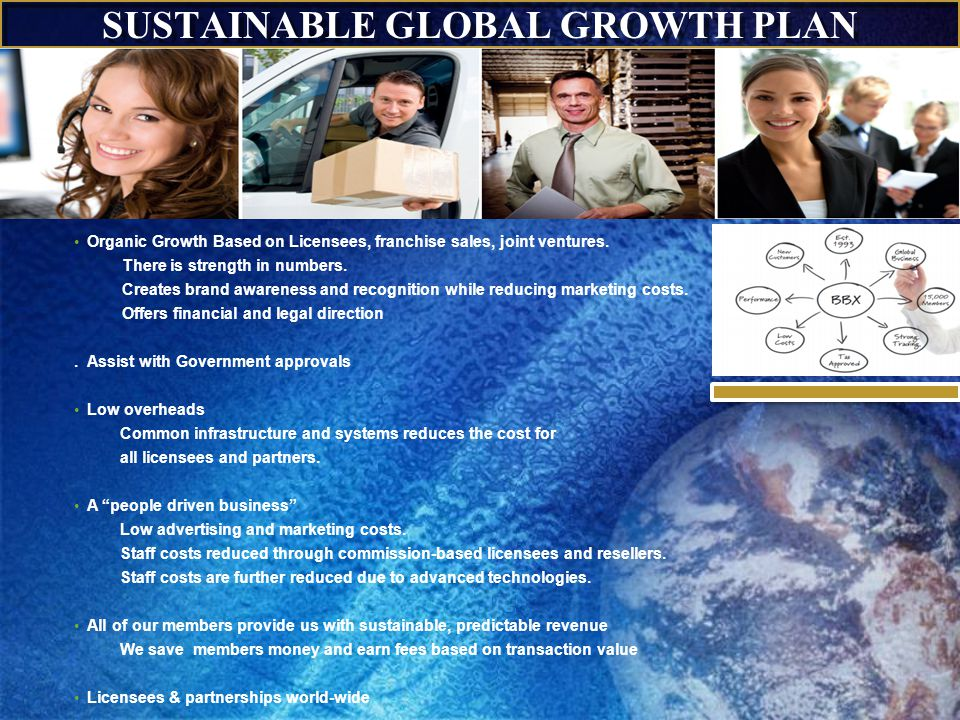 SUSTAINABLE GLOBAL GROWTH PLAN