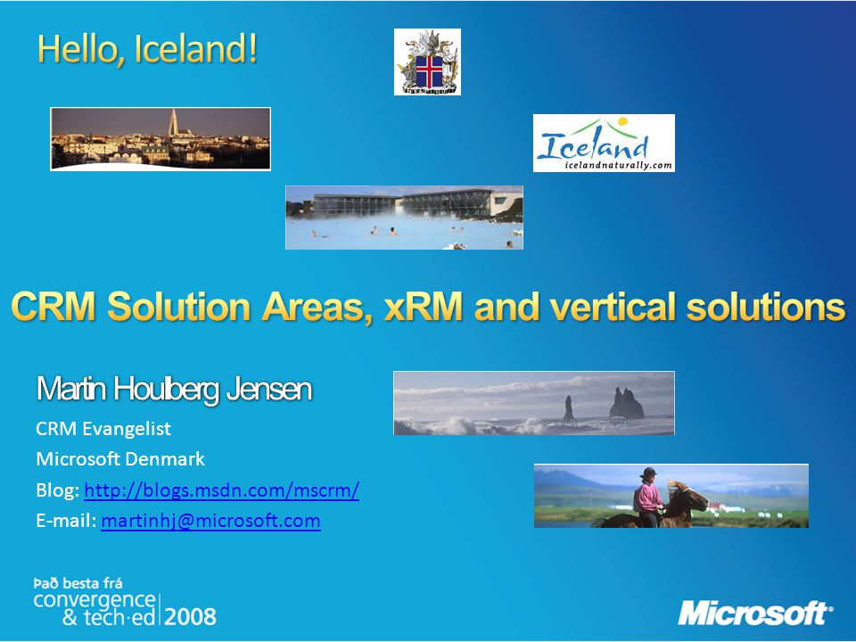 CRM Solution Areas, xRM and vertical solutions