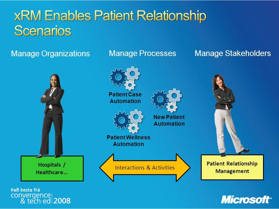 xRM Enables Patient Relationship Scenarios