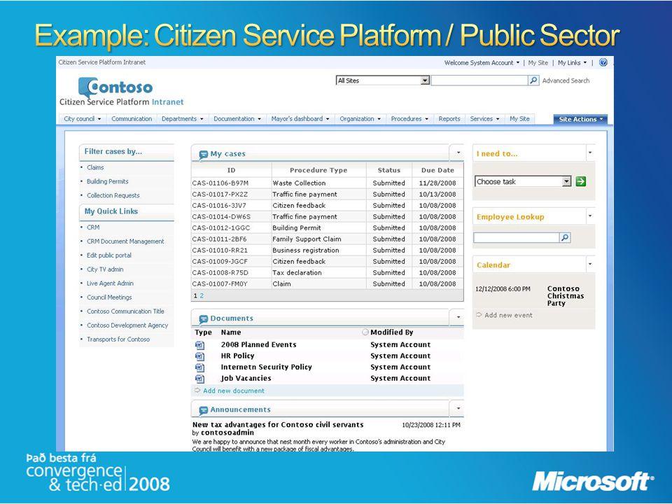 Example: Citizen Service Platform / Public Sector
