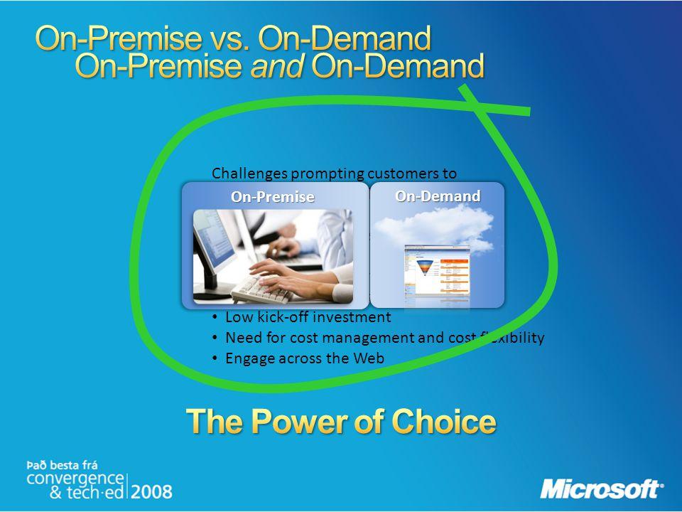 On-Premise vs. On-Demand