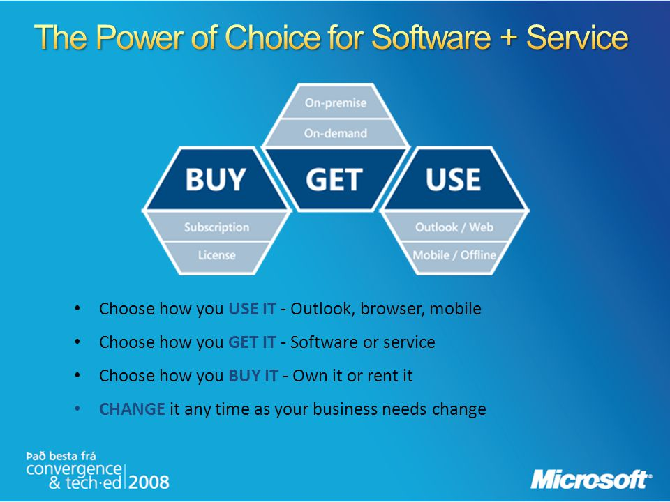 The Power of Choice for Software + Service