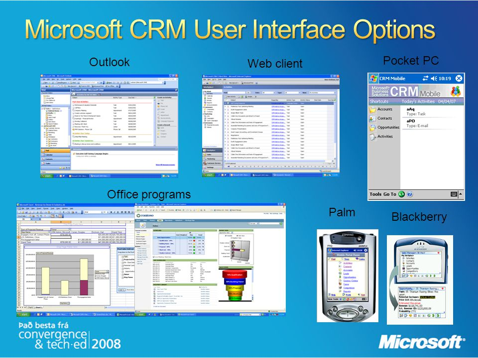 Microsoft CRM User Interface Options
