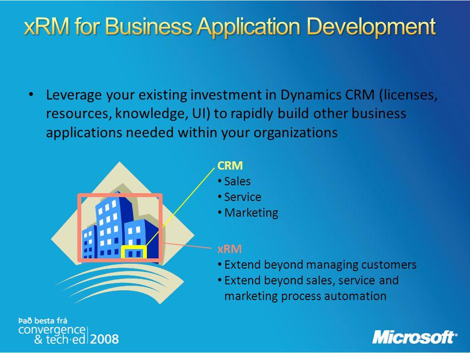 xRM for Business Application Development